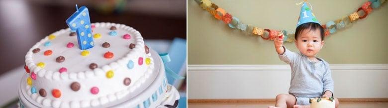 עוגת יום הולדת שנה