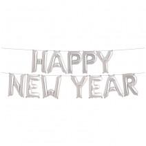 סט בלוני New Year כסף