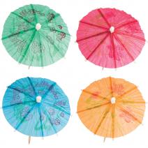 מטריות קוקטייל צבעוניות
