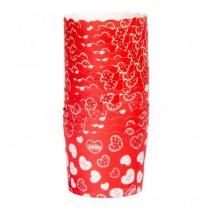 גביעי קאפקייקס אדום לבבות