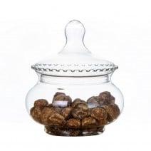 צנצנת ממתקים מעוגלת עם מכסה