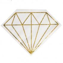 מפיות גדולות יהלום לבן זהב