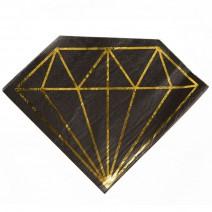 מפיות גדולות יהלום שחור זהב
