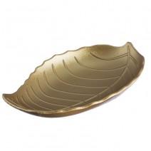 מגש עץ עלה זהב