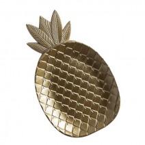 מגש עץ אננס זהב