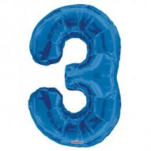 בלון מיילר כחול - מספר 3