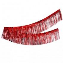 שרשרת פרנזים מטאלית - אדום