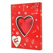 שוקולד לב גדול באריזת מתנה