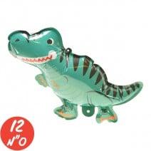 מיני בלון לניפוח עצמי - דינוזאור כחול
