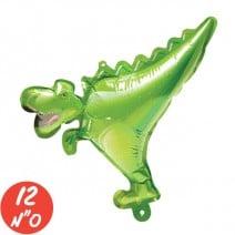 מיני בלון לניפוח עצמי - דינוזאור ירוק