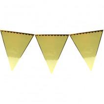 שרשרת דגלים צהוב זהב