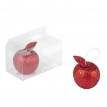 זוג תפוחים גליטר אדום