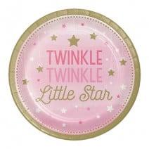 צלחות קטנות כוכב קטן בנות - Twinkle