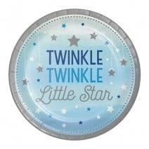 צלחות קטנות כוכב קטן בנים - Twinkle