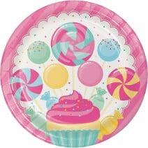 צלחות גדולות מסיבת ממתקים