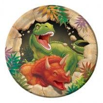 צלחות דינוזאורים קטנות