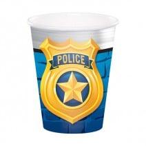 כוסות מסיבת משטרה