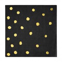 מפיות קטנות שחור נקודות זהב
