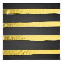 מפיות גדולות פסים שחור זהב