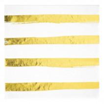 מפיות גדולות פסים לבן זהב