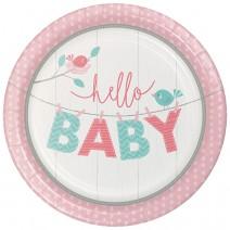 צלחות גדולות Hello Baby בנות