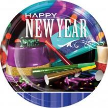 צלחות גדולות Happy New Year