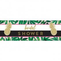 כרזת ענק Bridal Shower טרופית