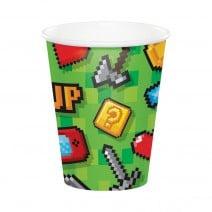 כוסות נייר מסיבת גיימינג
