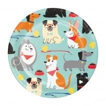 צלחות קטנות מסיבת כלבים