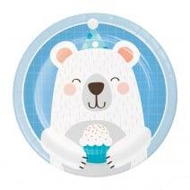 צלחות קטנות דוב הקוטב