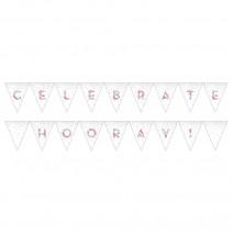 שרשרת דגלים ססגוני Celebrate/Hooray