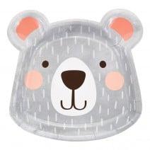 צלחות גדולות בצורת ראש דוב