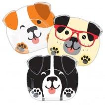 צלחות גדולות בצורת כלבלבים