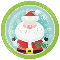 צלחות גדולות סנטה וחברים