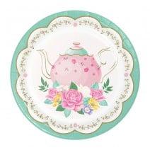 צלחות קטנות מסיבת תה