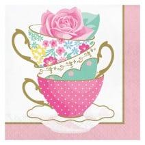 מפיות גדולות כוסות תה