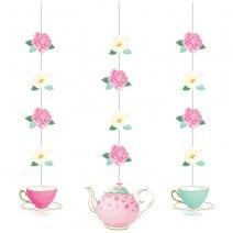 קישוטי תלייה מסיבת תה