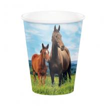 כוסות נייר סוסים