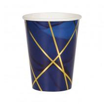 כוסות כחול זהב