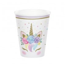 כוסות חד קרן פרחוני