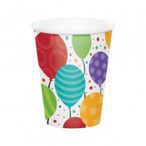 כוסות נייר חמישה בלונים