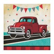מפיות קטנות האוטו האדום