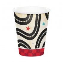 כוסות נייר מכונית מרוץ וינטאג'ית