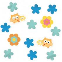 קונפטי ינשופים ופרחים