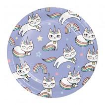 צלחות קטנות חד חתול
