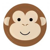 צלחות קטנות קוף