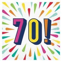 מפיות גדולות Birthday Burst - 70