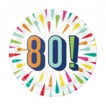 צלחות קטנות Birthday Burst - 80