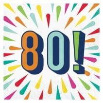 מפיות גדולות Birthday Burst - 80
