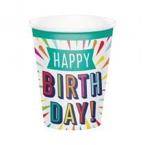 כוסות נייר Birthday Burst